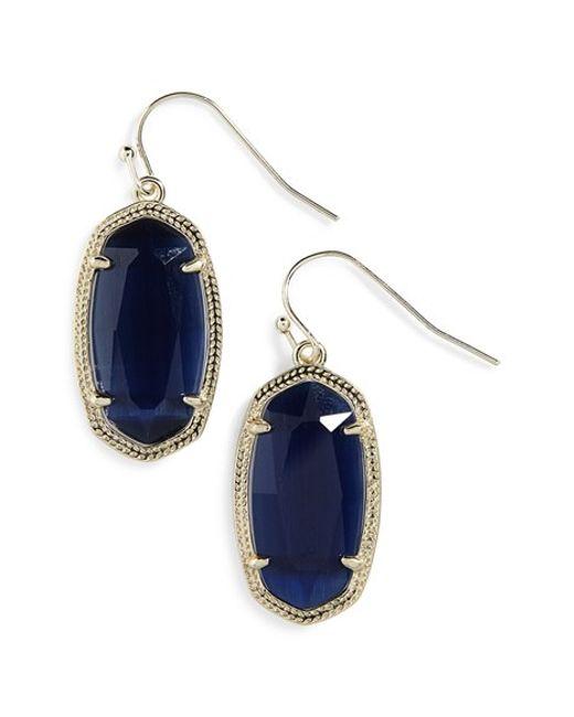 Kendra Scott | Blue 'dani' Drop Earrings | Lyst
