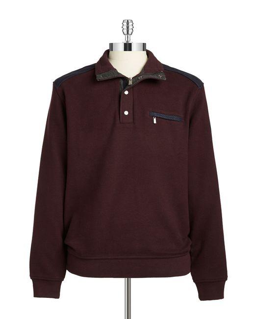 Bugatti | Red Quarter Zip Pullover Sweater for Men | Lyst
