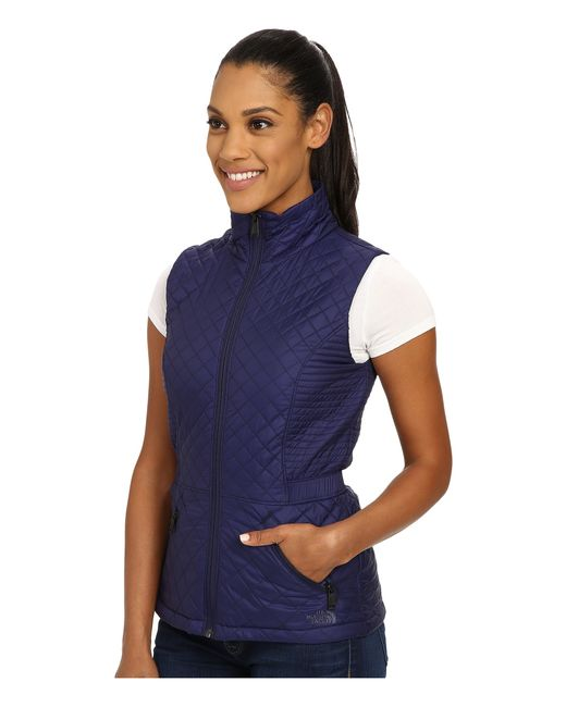 28c4188a8a8b ... the north face blue insulated luna vest lyst ...
