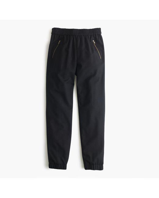 J.Crew | Black Petite Turner Pant In Wool | Lyst