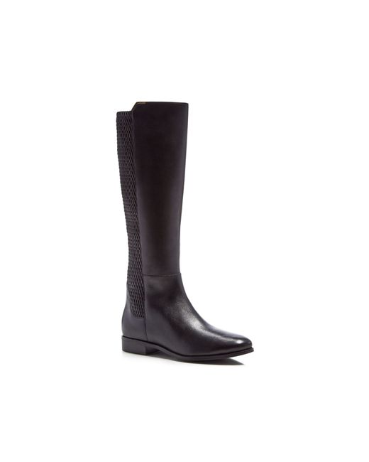 Cole Haan   Black Rockland Leather Knee Boot   Lyst