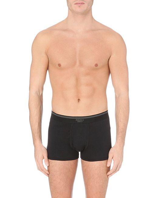 La Perla Branded Cotton Trunks In Black For Men Lyst