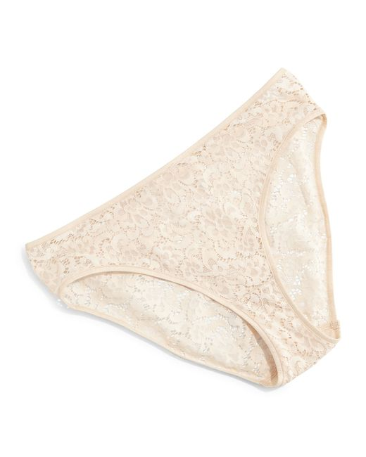 Hanro | Natural Messina High-cut Lace Bikini Briefs | Lyst