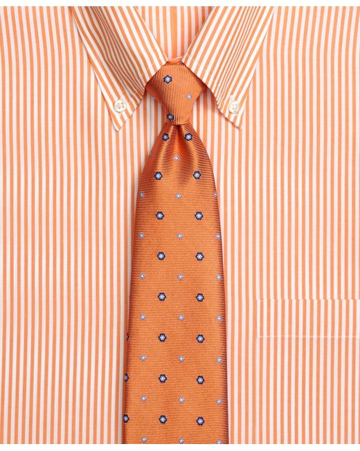 Brooks Brothers | Orange Spaced Flower Tie for Men | Lyst