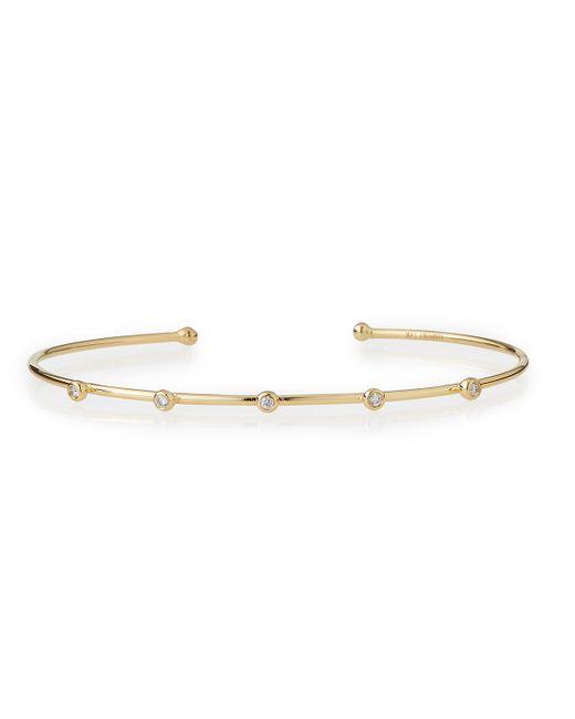 Mizuki | Metallic 14k Gold Cuff With Five Diamonds | Lyst