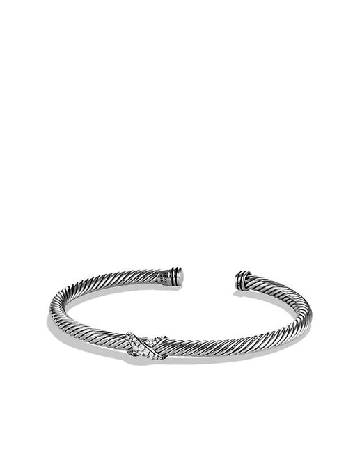 David Yurman | Metallic X Station Bracelet With Diamonds, 4mm | Lyst