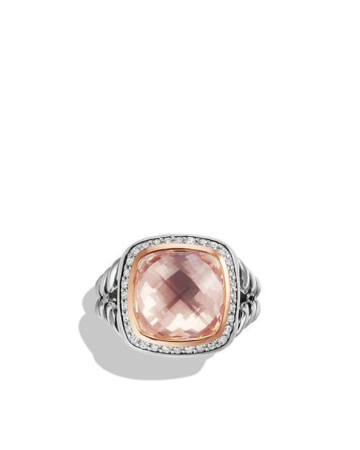 David Yurman | Pink Albion Ring With Morganite, Diamonds And 18k Rose Gold | Lyst