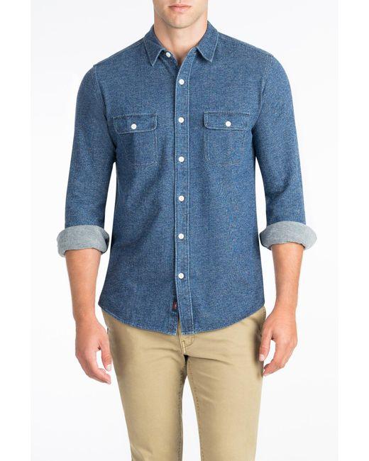 Faherty Brand | Blue Knit Belmar Shirt for Men | Lyst