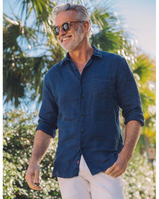 Faherty Brand - Blue Linen Laguna Shirt for Men - Lyst