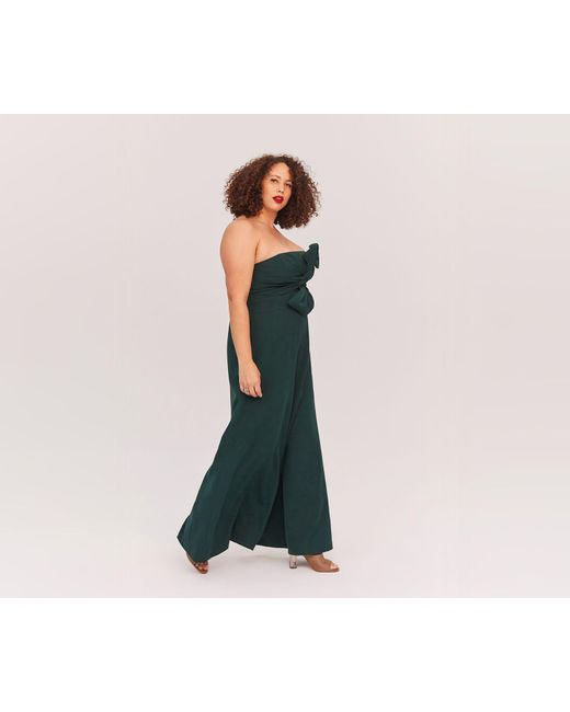 Lyst Fame Partners Cici Jumpsuit In Green
