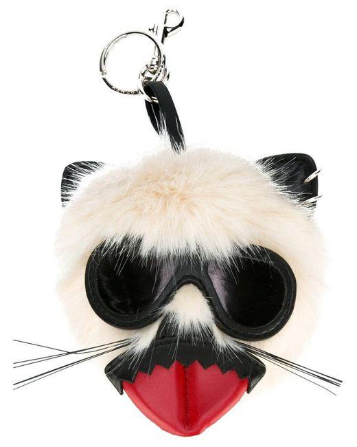 Stella McCartney - White Punk Mouse Keychain - Lyst