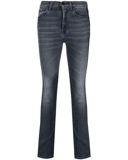 Marcelo Burlon - Gray High Rise Skinny Jeans - Lyst