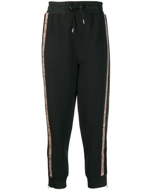 Just Cavalli - Black Animal-print Track Pants - Lyst