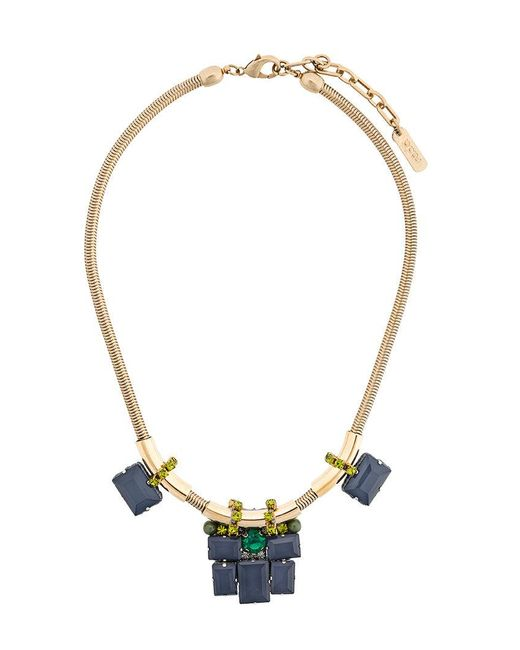 Rada' - Metallic Geometric Necklace - Lyst