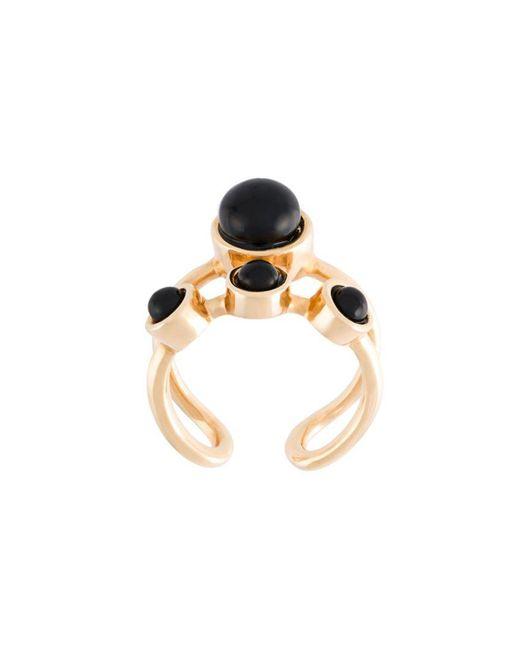 Eshvi | Black 'lava' Midi Ring | Lyst