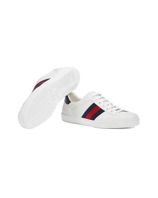 5849b6fb88c ... Gucci - White Ace Leather Low-top Sneaker for Men - Lyst ...