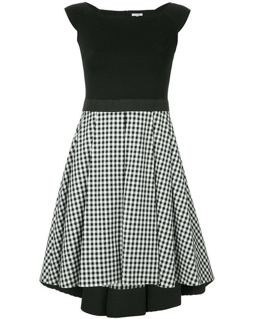 Guild Prime - Black Contrasting Gingham Panel Dress - Lyst