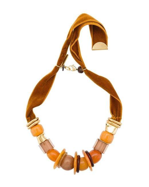 Lizzie Fortunato | Brown Collana 'amber Savanna' Con Pietre | Lyst