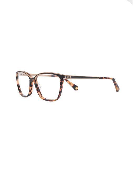 1d78433625044 Brown Tortoiseshell Glasses Lyst Frame Rectangle Balmain wFxq4nSBq