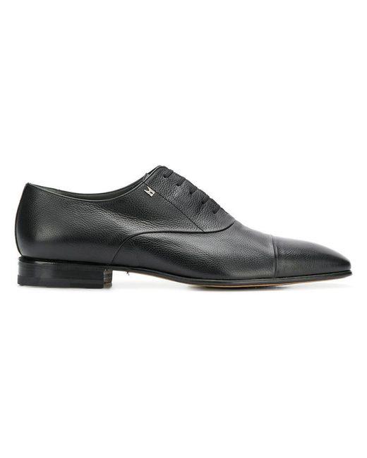 Moreschi - Black Oxford-Schuhe mit eckiger Kappe for Men - Lyst