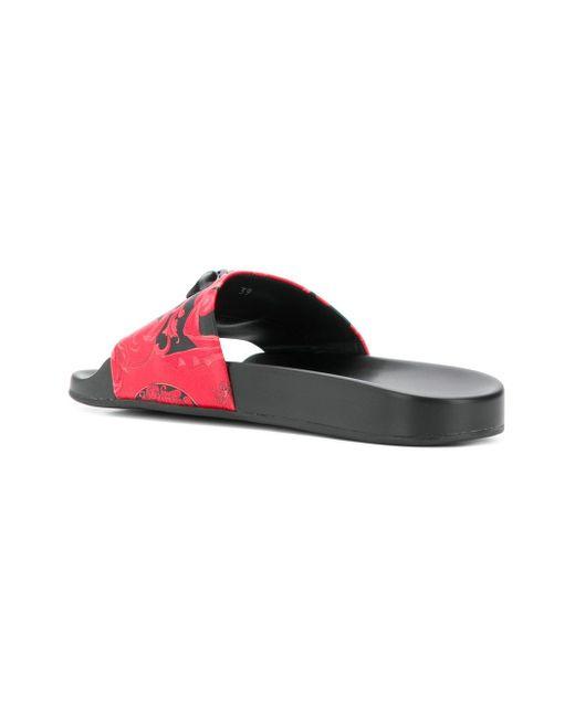 a4d6fd5dfa91e ... Versace - Red Medusa Head Slides - Lyst ...