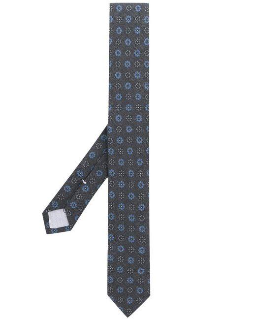 Eleventy - Gray Floral Print Tie for Men - Lyst
