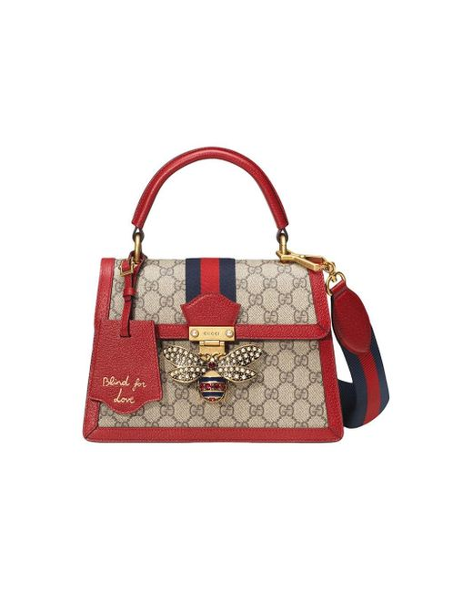70320ec30 Gucci - Red Queen Margaret GG Small Top Handle Bag - Lyst ...