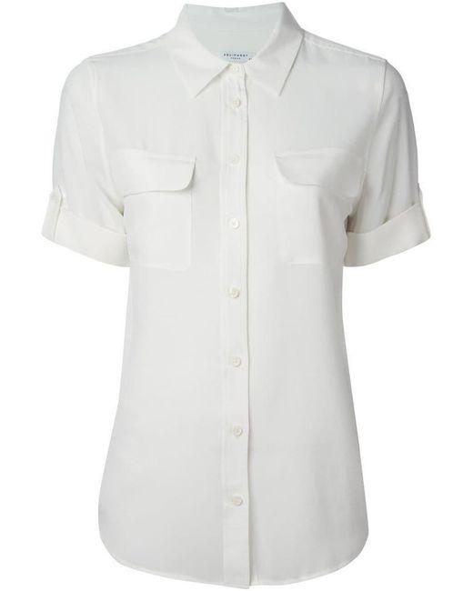 Equipment - White Slim Signature Shirt - Lyst