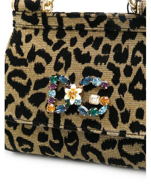 ... Dolce   Gabbana - Yellow Sicily Mini Tote Bag - Lyst ba4dbf1672284
