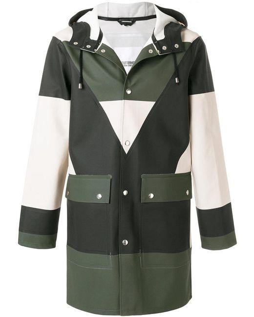 Henrik Vibskov - Green Colour Block Buttoned Coat - Lyst