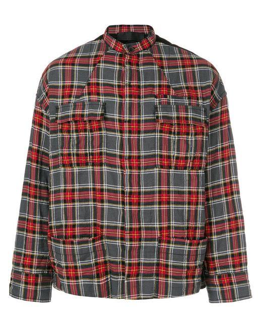 Haider Ackermann - Red Checked Shirt Jacket for Men - Lyst