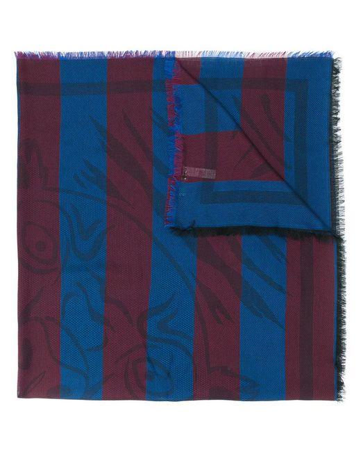 KENZO - Blue Striped Tiger Scarf - Lyst