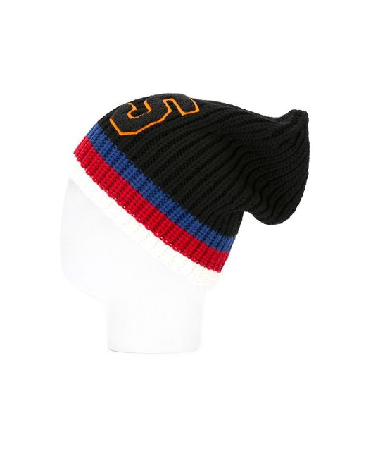 909dbf5a821 ... Gucci - Black 25 Ribbed Knit Beanie for Men - Lyst ...