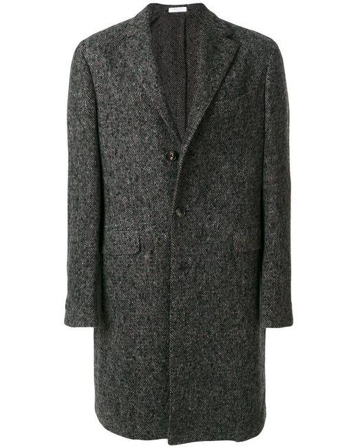 Boglioli   Gray Single Breasted Coat for Men   Lyst
