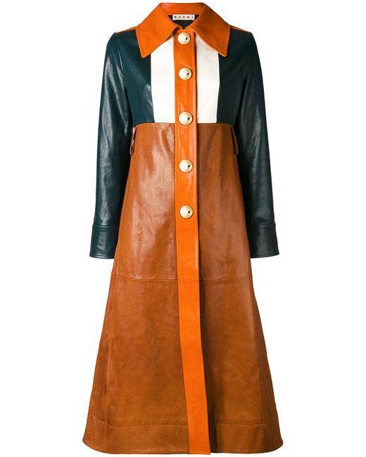 Marni - Multicolor Colour-block Coat - Lyst