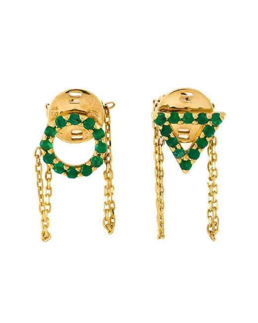 Eshvi | Metallic 'may' Earrings | Lyst