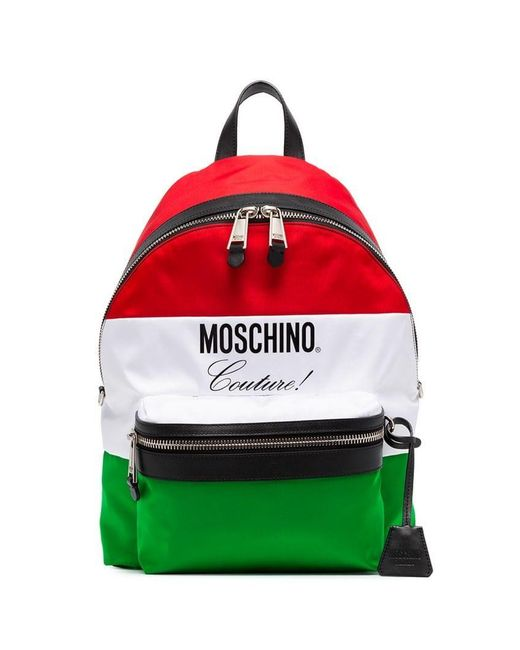 c7bc4059dc39a Moschino - Multicolor Rucksack mit Flaggen-Print for Men - Lyst ...
