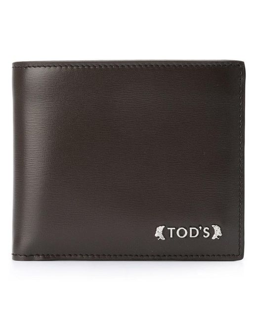 Tod's - Brown Logo Plaque Wallet for Men - Lyst