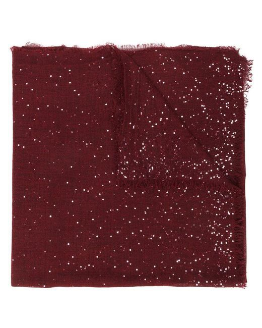 Faliero Sarti - Red Sequin Embellished Scarf - Lyst