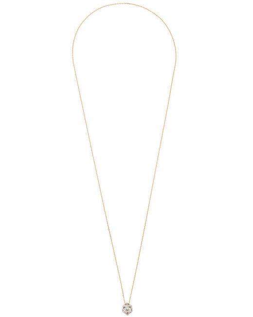 Noor Fares - Metallic Hollow Icosagon Pendant Necklace - Lyst