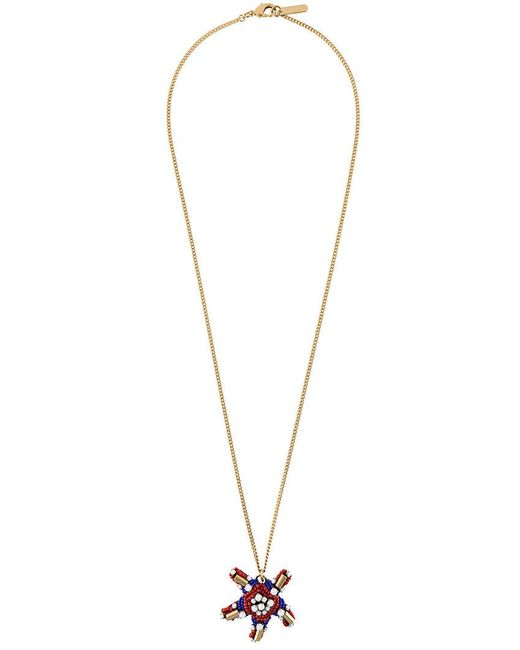 Rada' - Blue Star Pendant Elongated Necklace - Lyst