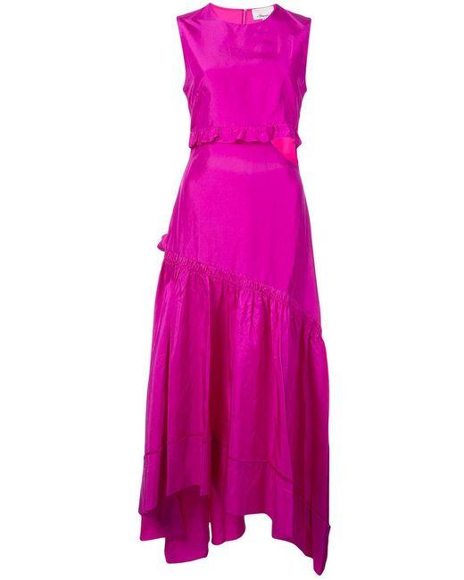 Hérisser Coupe Robe Évasée - Rose Et Violet 3,1 Lim Phillip