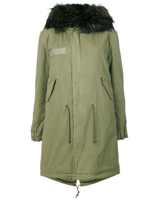 Mr & Mrs Italy | Green Fur Hooded Parka | Lyst