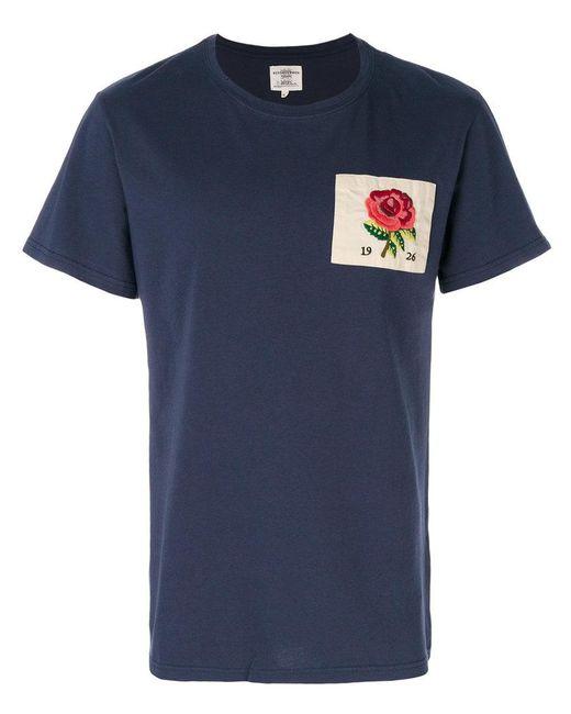 Kent curwen rose t shirt in blue for men lyst