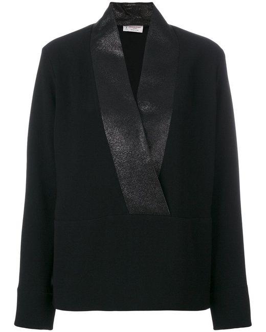 Alberto Biani - Black Tuxedo Top - Lyst