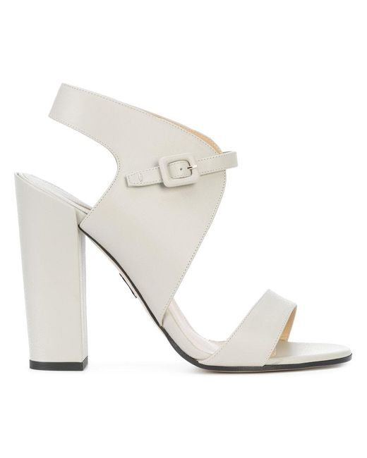 Paul Andrew | Gray Buckled Sandals | Lyst