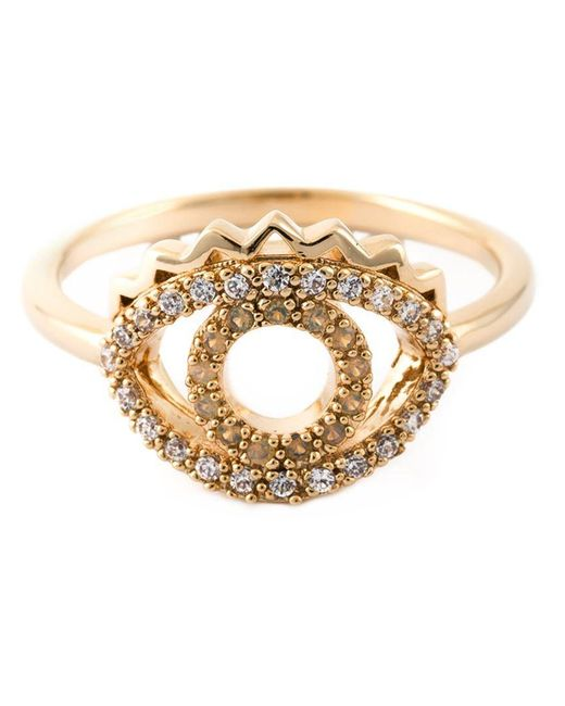 KENZO - Metallic 'eye' Ring - Lyst