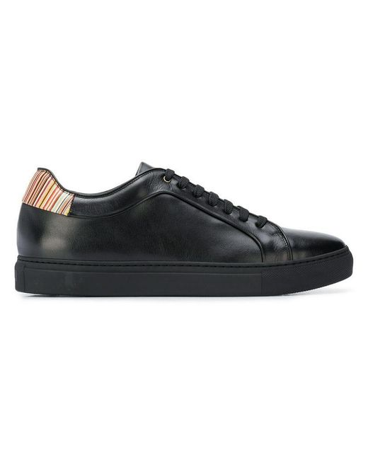 PS by Paul Smith - Black Striped Heel Detail Sneakers for Men - Lyst