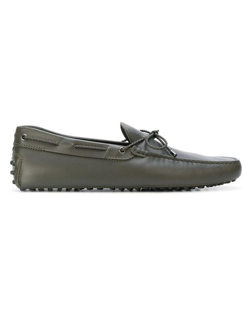 Tod's | Green Lace-up Loafers for Men | Lyst