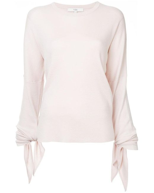 Tibi - Pink Tied Sleeve Pullover - Lyst